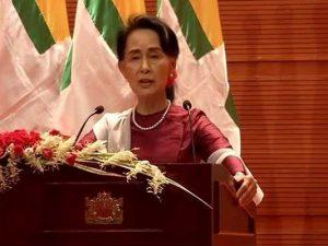 Myanmars leder Aung San Suu Kyi taler til nationen om Rohingya-krisen