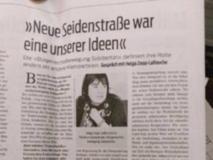 Helga Zepp-LaRouche interview i 'Junge Welt'