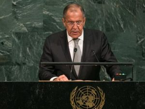 Den russiske udenrigsministers tale i FN <br>fremhæver Trumps erklæring om national suverænitet