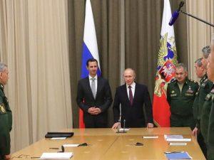 Putin møder Assad og briefer Trump