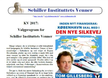 Stem på Schiller Instituttets Venner <br>&#8211; se her i vores Valgprogram, hvorfor: