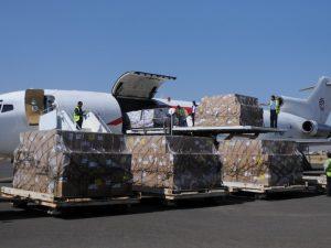 Yemen: Første ladning korn i mere end to uger ankommer til Hodeida, Yemen