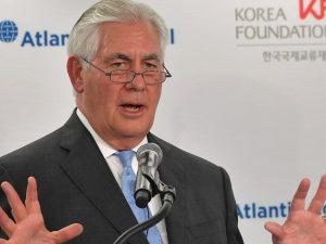 USA's udenrigsminister Tillerson gør det klart, <br>at vi har brug for russisk samarbejde om Korea