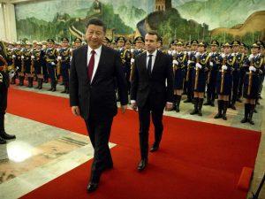Kinas præsident Xi: Den franske præsident Macrons besøg <br>hæver relationer op på et nyt udgangspunkt