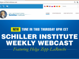 Meddelelse: <br>Helga Zepp-LaRouche i Internationalt webcast, <br>torsdag 22. feb. kl. 18 dansk tid:  <br>Forsvarerne af det »Gamle Paradigme« <br>angriber Kina på München Sikkerhedskonference