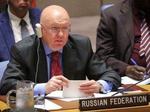 Den russiske FN ambassadør Nebenzia kræver en FN-fredsplan for Yemen