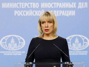 Talsperson for det Russiske Udenrigsministerium <br>advarer om »Giftige Londons« Atomare Lege