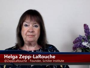 Helga Zepp-LaRouche opfordrer til <br>diplomati for fred og udvikling <br>i kølvandet på drab i Gaza