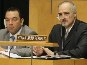 Syriens FN-ambassadør: <br>Briterne står bag krigsfremstødet og arbejder for, <br>at USA går i gang med »mislykkede krige«
