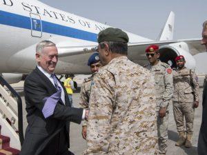 USA's udenrigsminister Mattis: USA involveret i <br>planlægning af luftangreb i saudiernes krig i Yemen