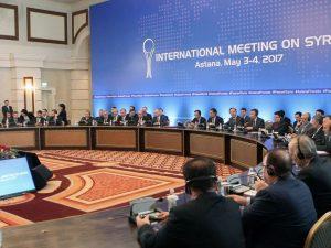 Russisk general beskriver geopolitik som problem <br>i Astana-forhandlinger for fred i Syrien
