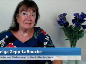 Hilsener fra Helga Zepp-LaRouche, <br>Schiller Instituttets stifter og præsident, <br>til koncerten Dona Nobis Pacem, <br>Manhattan, NY, 10. juni 2018