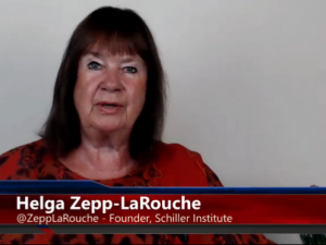Silkevejsånden er smittefarlig!  <br>Hovedtale af Helga Zepp-<br>LaRouche, Schiller Instituttets <br>konference i New York, <br>9. juni, 2018: Dona Nobis Pacem <br>– Giv os fred, gennem <br>økonomisk udvikling