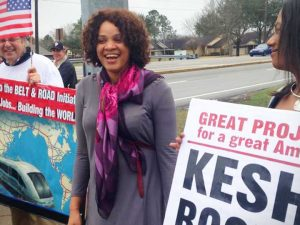 Den økonomiske løsning på immigrantkrisen. <br>LaRouchePAC-kandidat til midtvejsvalg 2018, <br>Kesha Rogers, Texas, USA