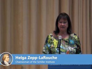 Helga Zepp-LaRouche: <br>Modsætningernes sammenfald <br>– Morgendagens verden. <br>Schiller Instituttets Internationale <br>konference, 30. juni, 2018, Tyskland