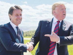 Trump og Italiens Conte enige om dialog med Rusland; <br>Trump siger han er villig til at mødes med Iran