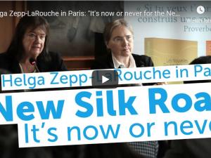 "Helga Zepp-LaRouche i Paris: ""Det er nu eller aldrig for Den Nye Silkevej"""