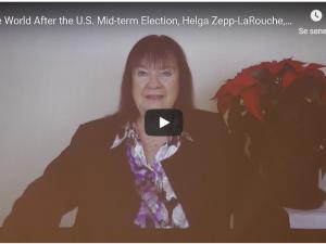 Afskriftet af Helga Zepp-LaRouches tale til Schiller Instituttets og EIR&#8217;s <br>seminar for diplomater den 29. november 2018