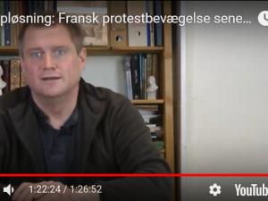 POLITISK ORIENTERING den 13. december 2018: EU i opløsning: <br>Fransk protestbevægelse seneste udtryk for oprør fra Vestens befolkning