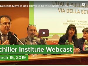 Afskrift: Mens neokonservative forsøger at inddæmme Trump, <br>peger udvikling i Italien på vejen til det nye paradigme. <br> Schiller Instituttets internationale webcast med Helga Zepp-LaRouche den 15. marts 2019