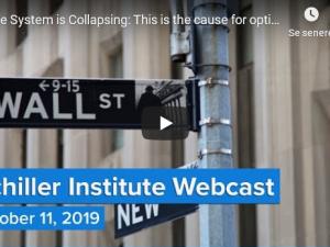 Systemet kollapser: Dette er årsagen til optimisme!<br>Schiller Instituttets ugentlige webcast med<br>Helga Zepp-LaRouche den 11. oktober 2019