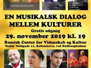 KOM TIL KONCERTEN! EN MUSIKALSK DIALOG MELLEM KULTURER fredag den 29. november kl. 19. <br>Gratis i København