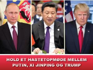 NYHEDSORIENTERING JANUAR 2020: Hold et hastetopmøde mellem Putin, Xi Jinping og Trump