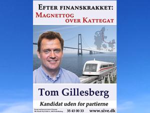 Tom Gillesberg på Radio 4 om magnettog over Kattegat den 20. januar 2020. 18 min.