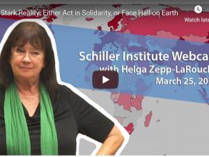 Den hårde virkelighed: Enten solidarisk handling, eller stå overfor helvede på jord. <br>Schiller Instituttets ugentlige webcast med Helga Zepp-LaRouche den 25. marts 2020