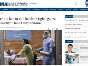 Kinas budskab til USA: 'Det er aldrig for sent at tage hinanden i hånden i kampen mod den virkelige fjende'