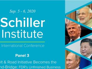 Schiller Instituttets videokonference <br>PANEL III d. 6. sept. video og engelsk afskrift: <br>Bælte- og Vejinitiativet bliver til Verdenslandbroen & Franklin D. Roosevelts uafsluttede projekt: