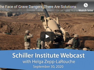 Vi står overfor alvorlige farer, men der er løsninger. <br> Schiller Instituttets ugentlige webcast med <br>Helga Zepp-LaRouche den 31. september 2020