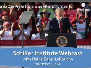 Helga Zepp-LaRouche Webcast: Trump kan bevise, at der gøres forsøg på at stjæle valget.