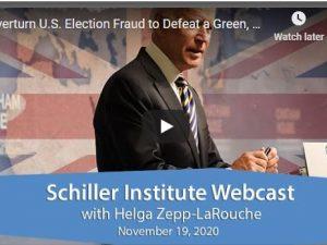 Helga Zepp-LaRouche webcast: Stop den amerikanske valgsvindel <br>for at besejre det grønne, globale bankdiktatur