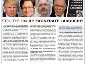 Stop bedraget: Giv oprejsning til LaRouche. <br> LaRouche-organisationens annonce i Washington Times den 6. januar