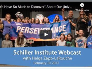 """""""Vi har så meget at opdage"""" om vores univers <br> Schiller Instituttets ugentlige webcast med <br> Helga Zepp-LaRouche den 10. februar 2021"""