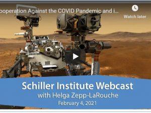 Samarbejde imod COVID-pandemien og i rummet bevæger <br> menneskeheden mod et nyt anti-Davos-paradigme. <br> Schiller Instituttets ugentlige webcast med <br> Helga Zepp-LaRouche den 4. februar 2021