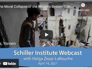 Det vestlige systems moralske sammenbrud råber højt på et nyt paradigme. <br> Schiller Instituttets ugentlige webcast med Helga Zepp-LaRouche den 14. april 2021