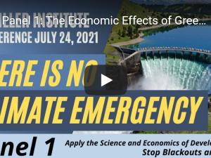 Videokonference: Der er ingen »klima-nødsituation« <br>Brug videnskab og udviklingsprincipper for at stoppe strømsvigt og død. <br>Se videoerne fra den 24. juli.