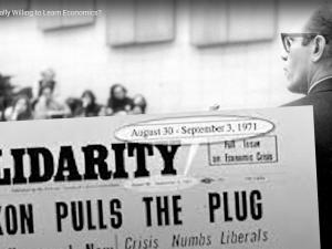 Videokonference: På 50-årsdagen for LaRouches forbløffende prognose den 15. august 1971: <br> Nå, er du så endelig villig til at lære økonomi? Lørdag den 14. august kl. 15 – 20 dansk tid