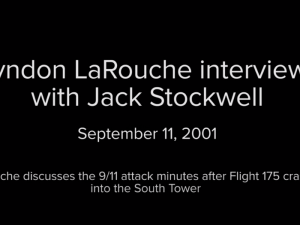 Lyndon LaRouche var på live radio den 11. september 2001 da flyene ramte. <br>Her er hans umiddelbart reaktion.